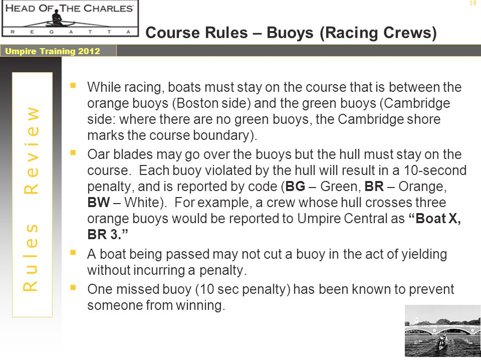 Course Rules – Buoys (Racing Crews)