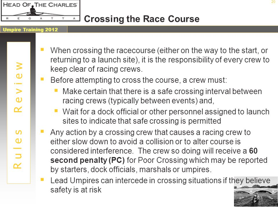 Crossing the Race Course