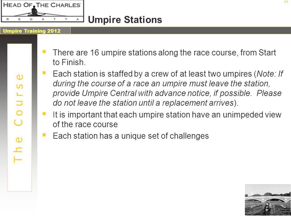 T h e C o u r s e Umpire Stations