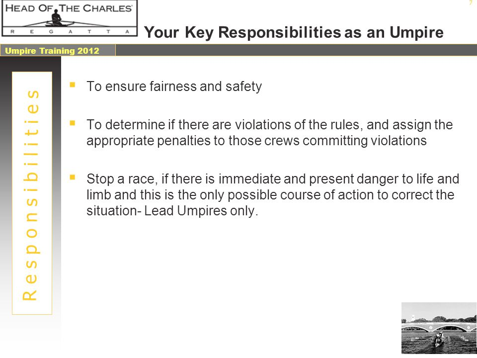 Your Key Responsibilities as an Umpire