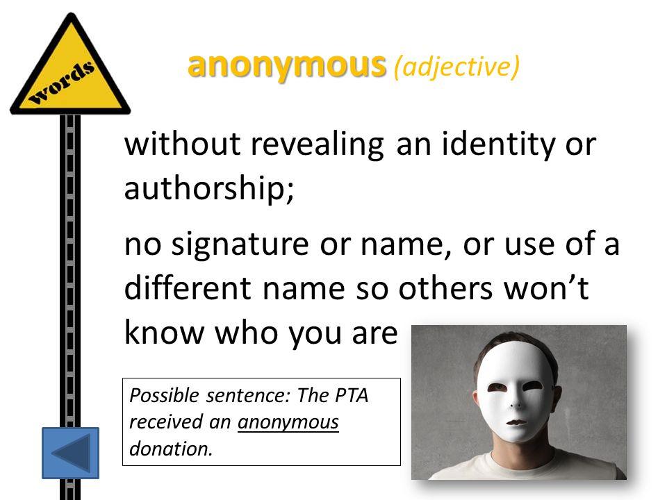 anonymous (adjective)