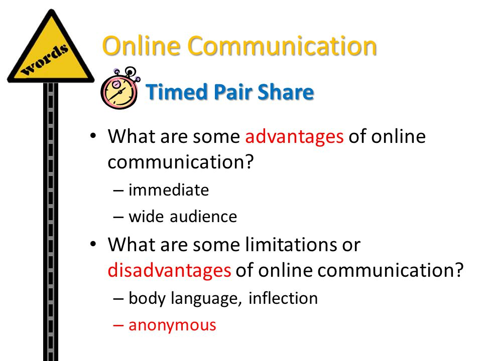 Online Communication Timed Pair Share