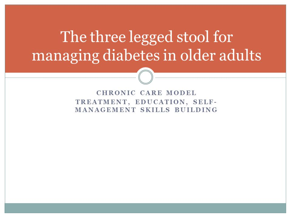 The three legged stool for managing diabetes in older adults