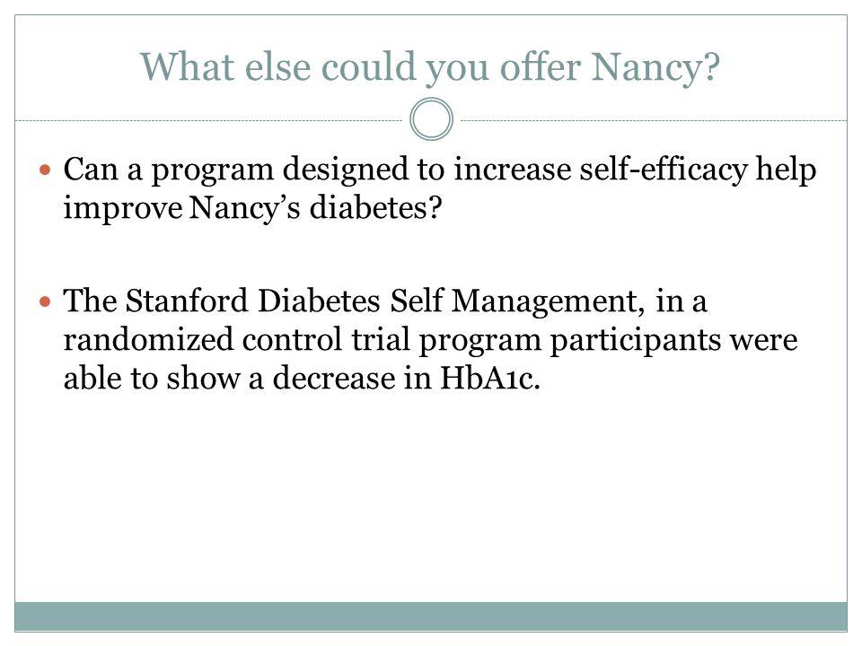 What else could you offer Nancy