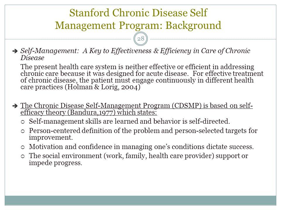 Stanford Chronic Disease Self Management Program: Background