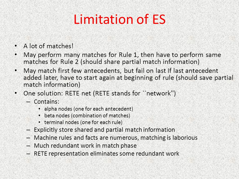 Limitation of ES A lot of matches!