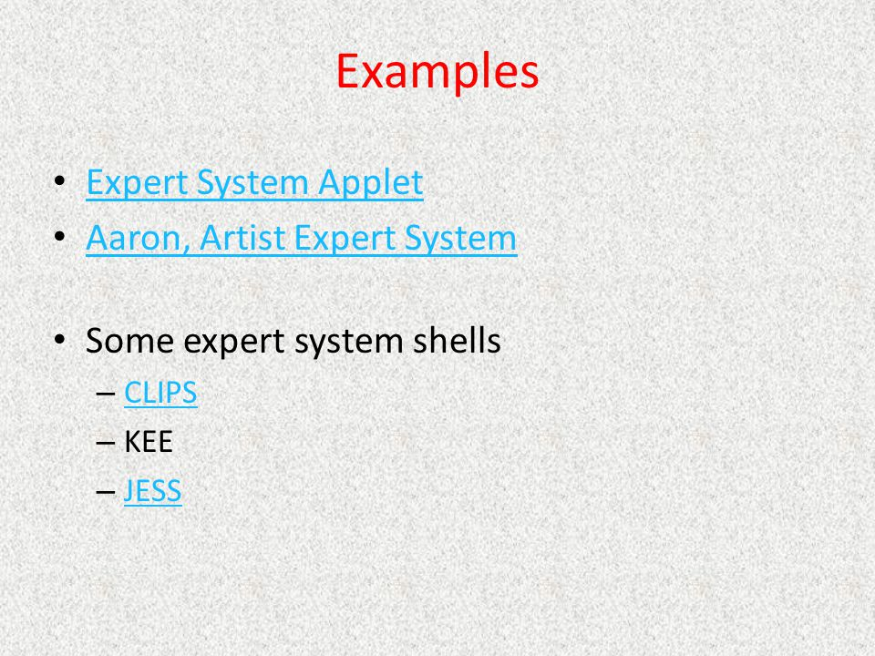 Examples Expert System Applet Aaron, Artist Expert System