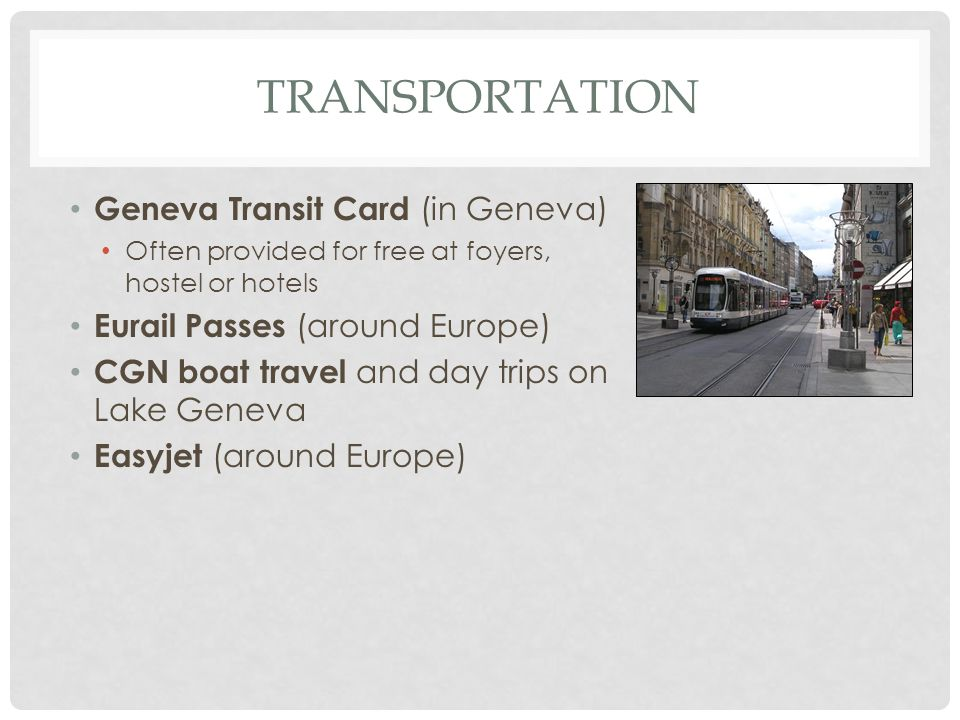 transportation Geneva Transit Card (in Geneva)