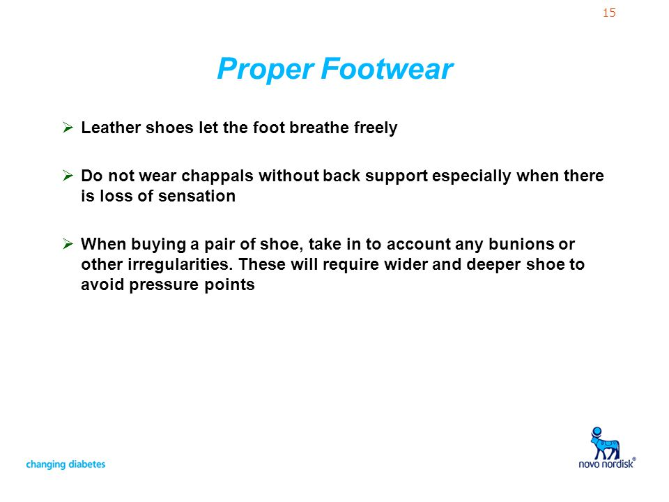Proper Footwear Leather shoes let the foot breathe freely