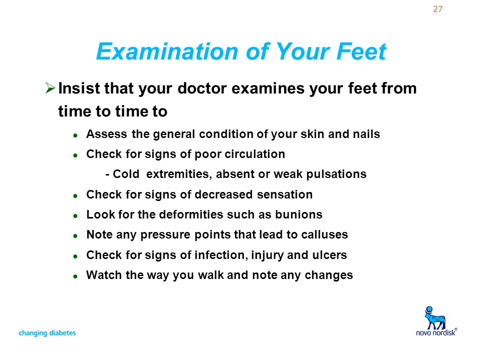 Examination of Your Feet