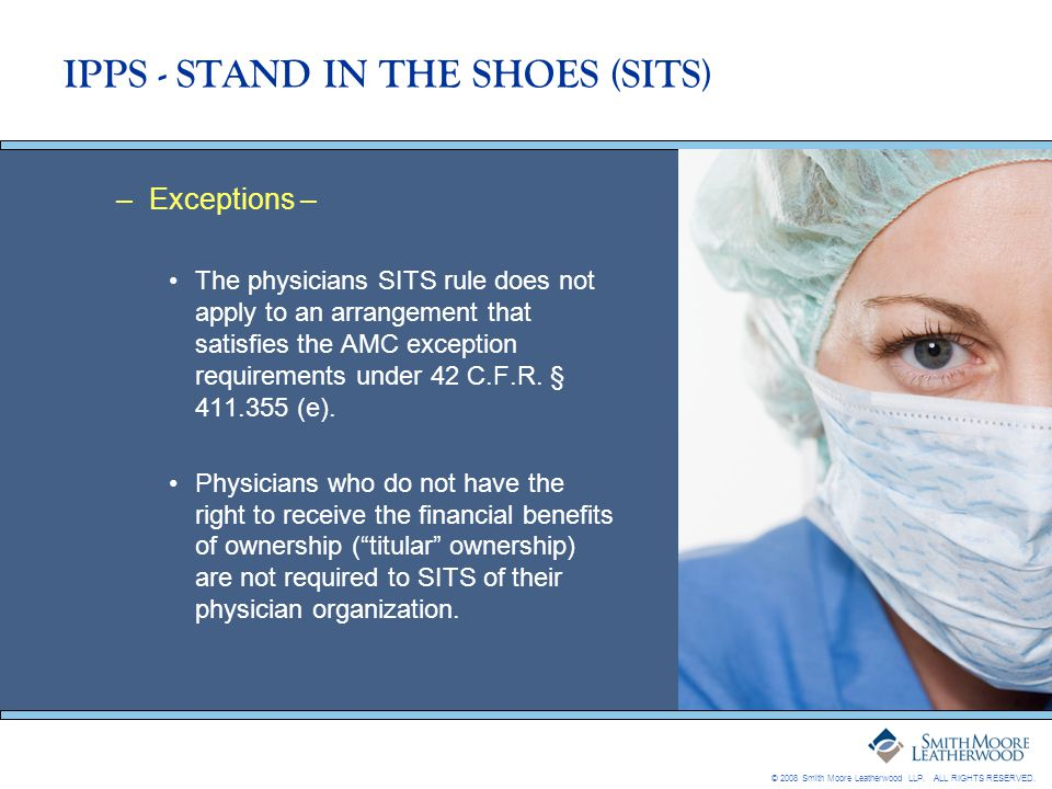IPPS - STAND IN THE SHOES (SITS)