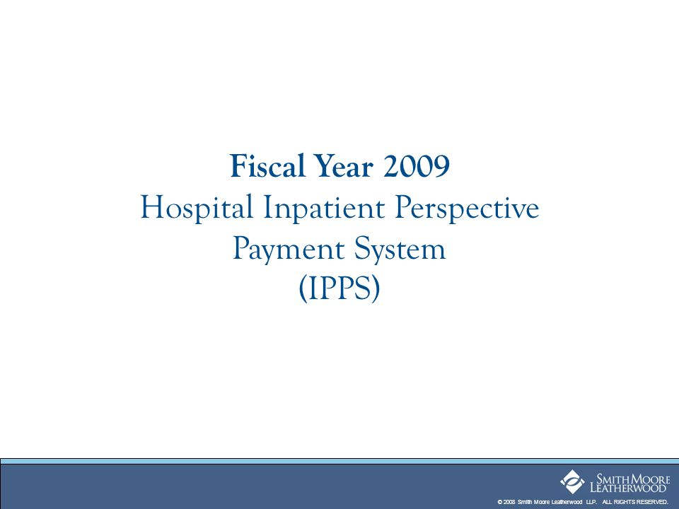Fiscal Year 2009 Hospital Inpatient Perspective