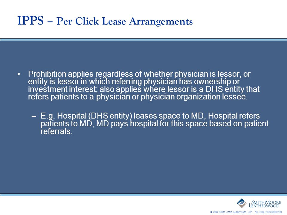 IPPS – Per Click Lease Arrangements