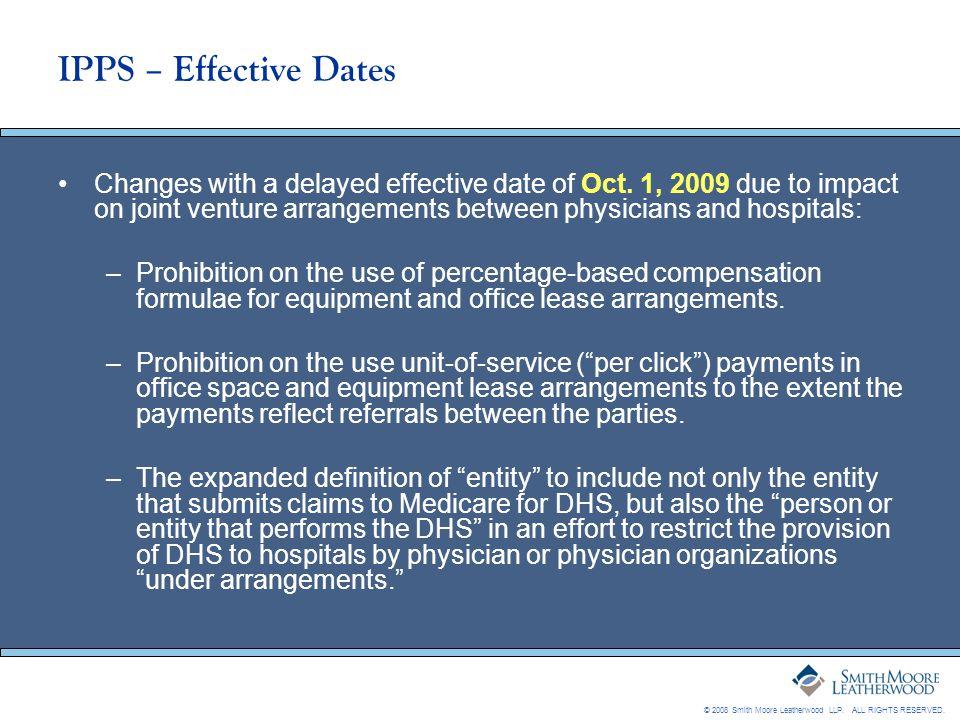 IPPS – Effective Dates