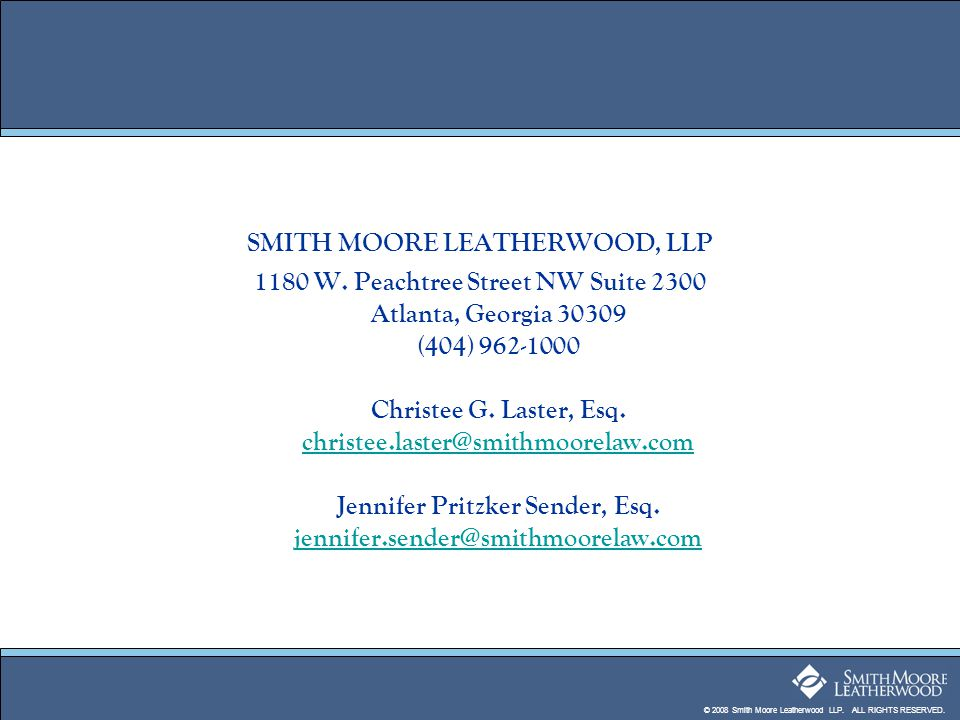 SMITH MOORE LEATHERWOOD, LLP