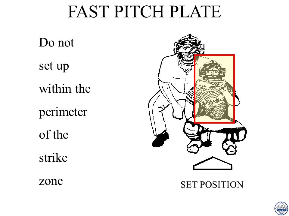FAST PITCH PLATE Do not set up within the perimeter of the strike zone
