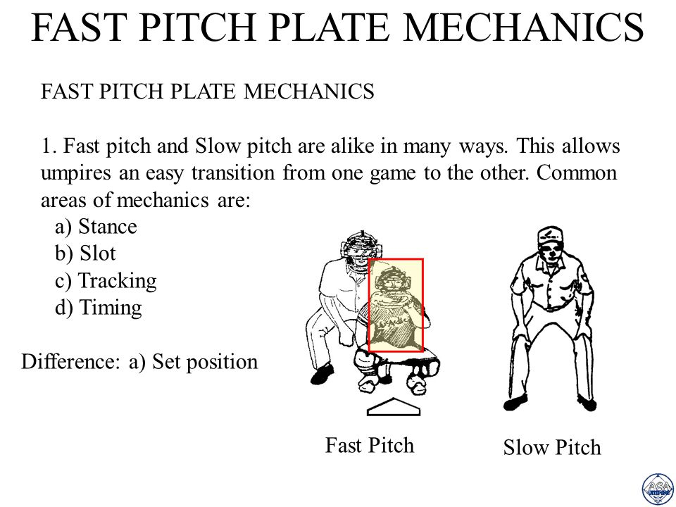 FAST PITCH PLATE MECHANICS