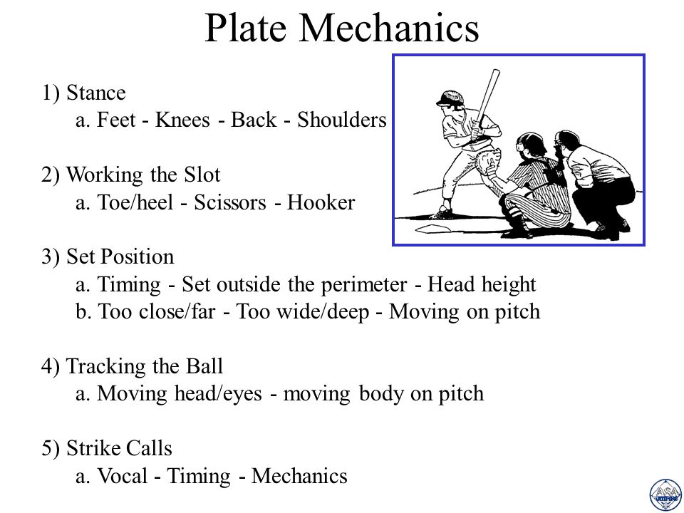 Plate Mechanics 1) Stance a. Feet - Knees - Back - Shoulders