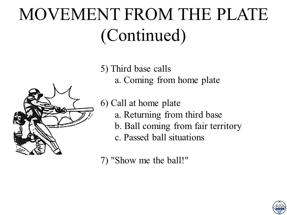 MOVEMENT FROM THE PLATE (Continued)