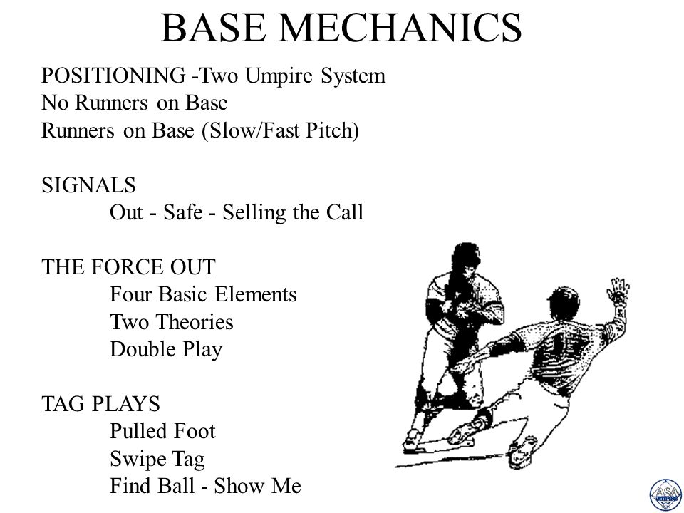 BASE MECHANICS POSITIONING -Two Umpire System No Runners on Base