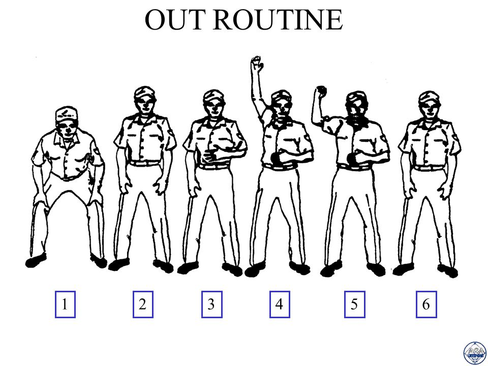OUT ROUTINE 1 2 3 4 5 6