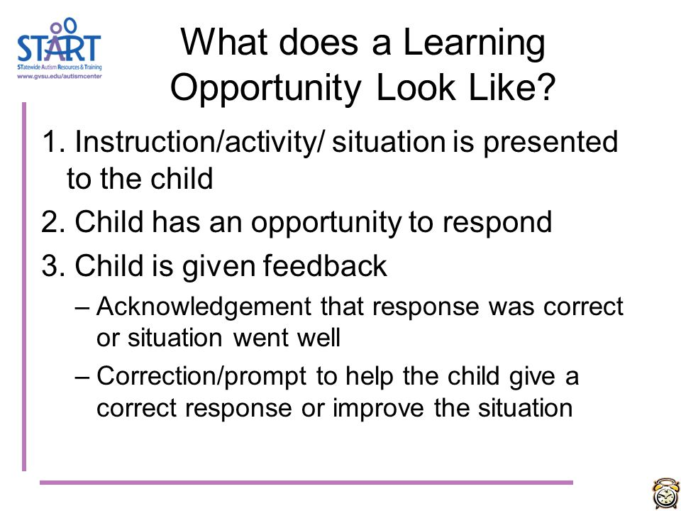 What does a Learning Opportunity Look Like