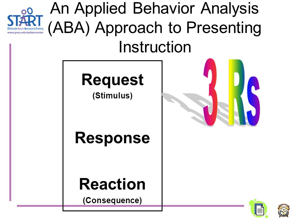 An Applied Behavior Analysis (ABA) Approach to Presenting Instruction