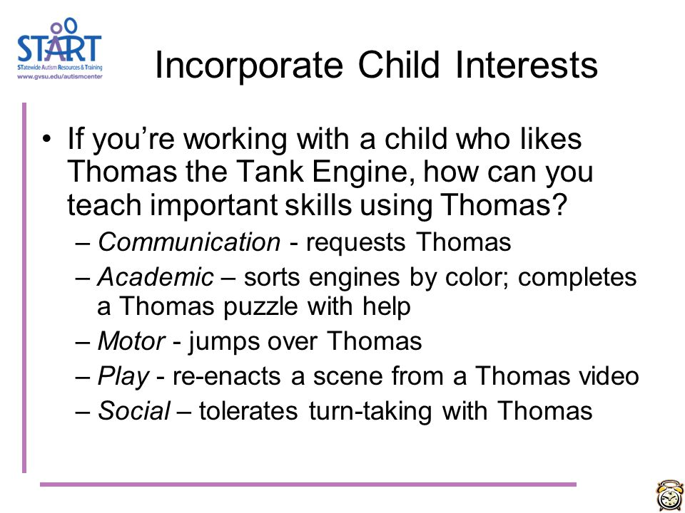 Incorporate Child Interests