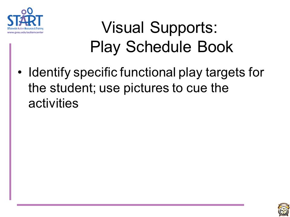 Visual Supports: Play Schedule Book