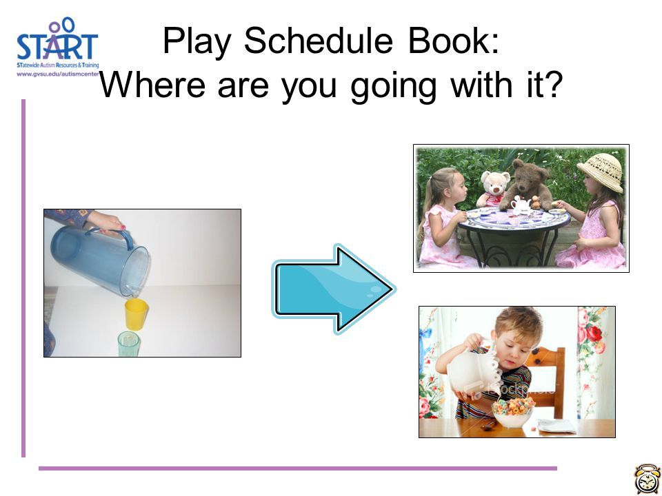Play Schedule Book: Where are you going with it