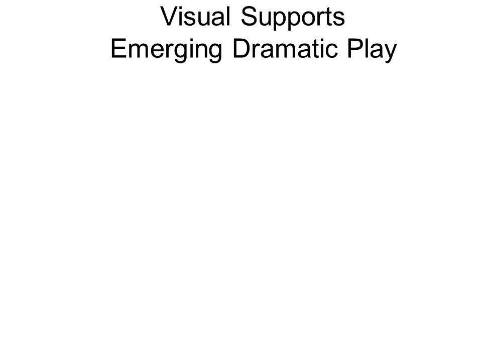 Visual Supports Emerging Dramatic Play