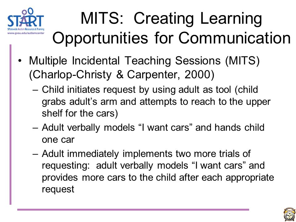 MITS: Creating Learning Opportunities for Communication