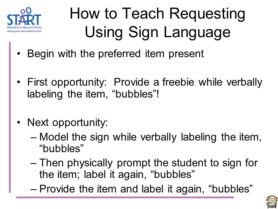 How to Teach Requesting Using Sign Language