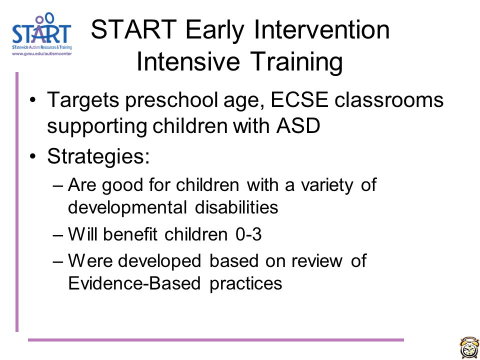START Early Intervention Intensive Training