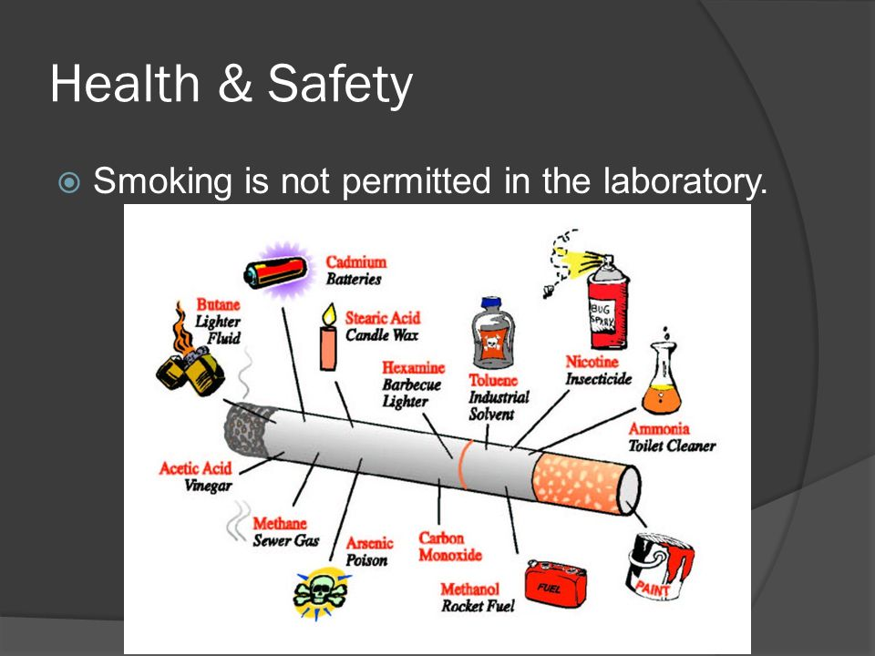 Health & Safety Smoking is not permitted in the laboratory.
