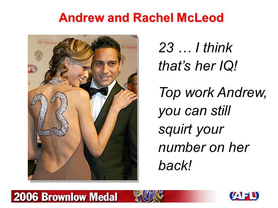 Andrew and Rachel McLeod