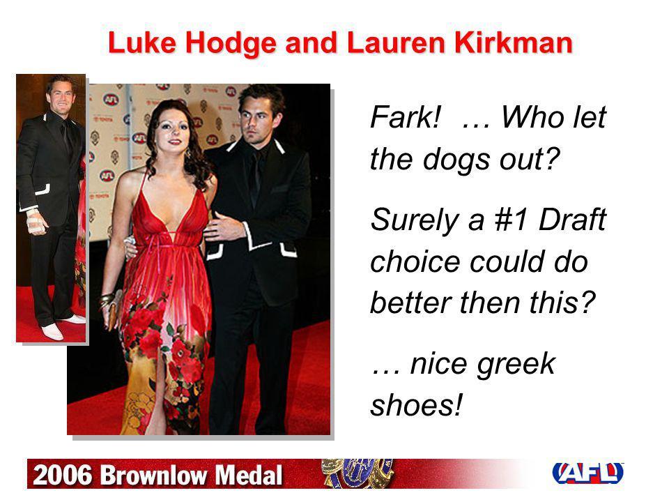 Luke Hodge and Lauren Kirkman