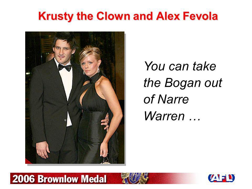 Krusty the Clown and Alex Fevola