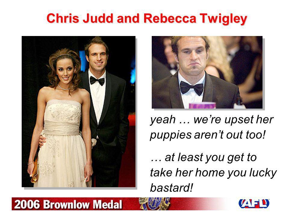 Chris Judd and Rebecca Twigley
