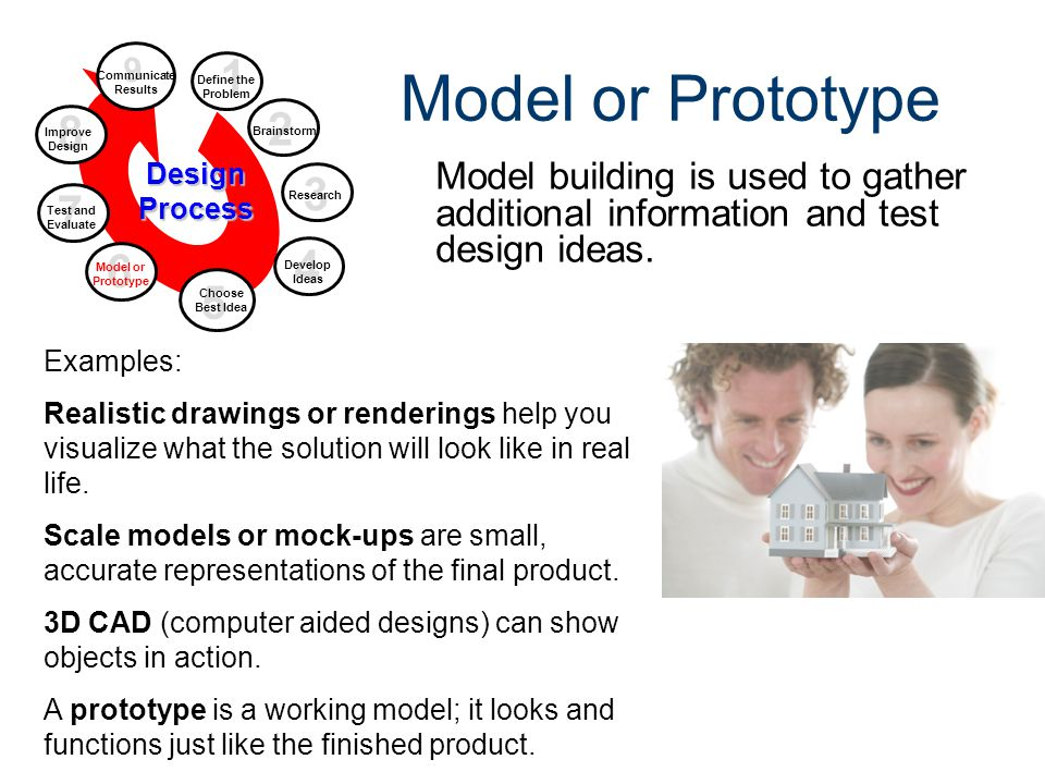 Design Process Gateway To Technology® Unit 1 – Lesson 1.2 – Design Process. Model or Prototype. 9.