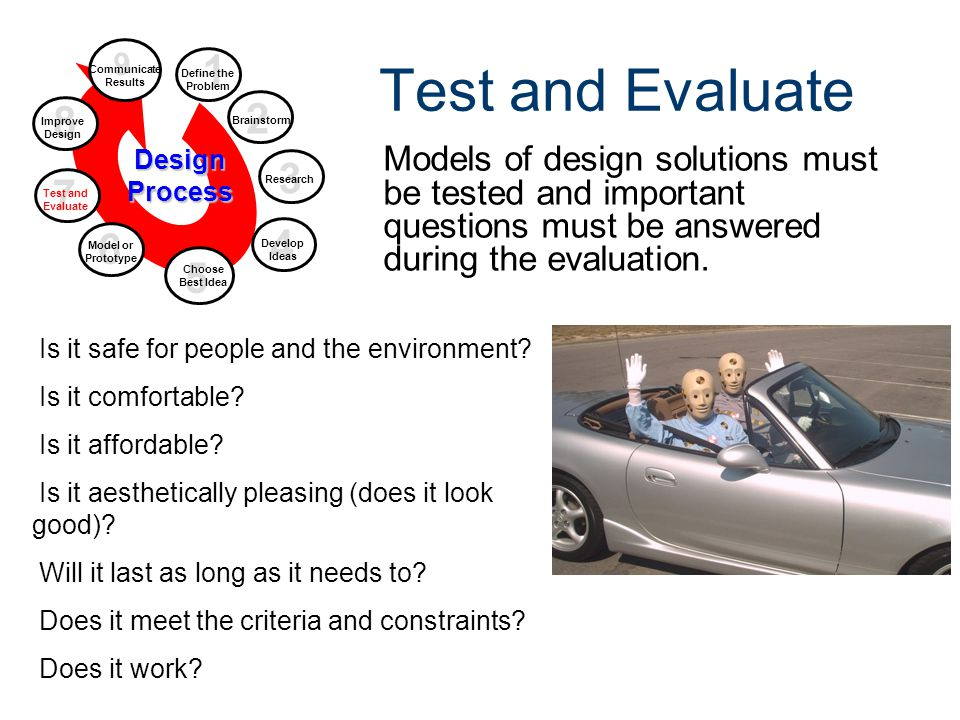Design Process Gateway To Technology® Unit 1 – Lesson 1.2 – Design Process. Test and Evaluate. 9.
