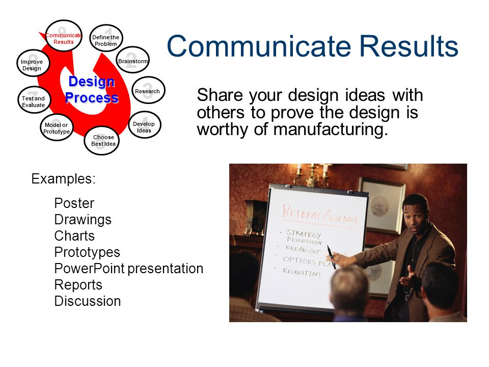 Design Process Gateway To Technology® Unit 1 – Lesson 1.2 – Design Process. Communicate Results. 9.