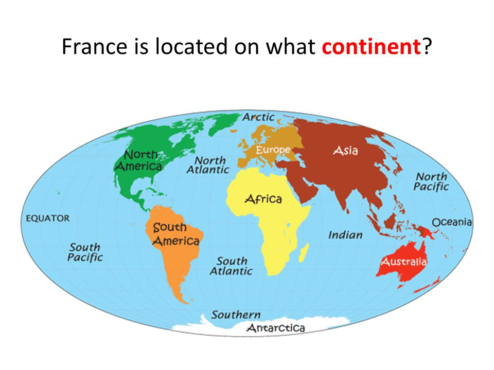 France is located on what continent