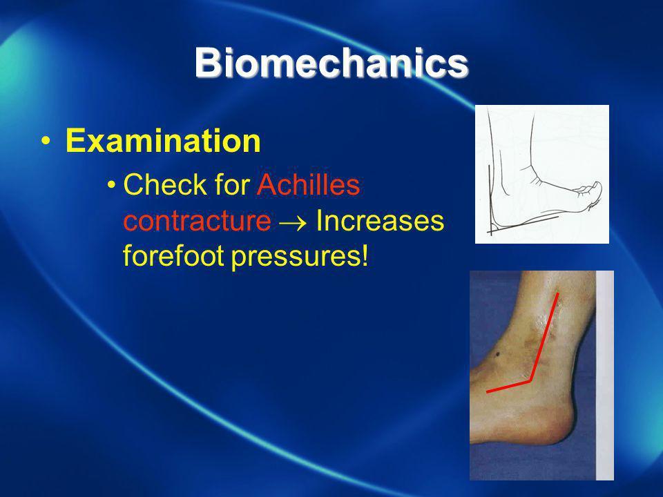 Biomechanics Examination