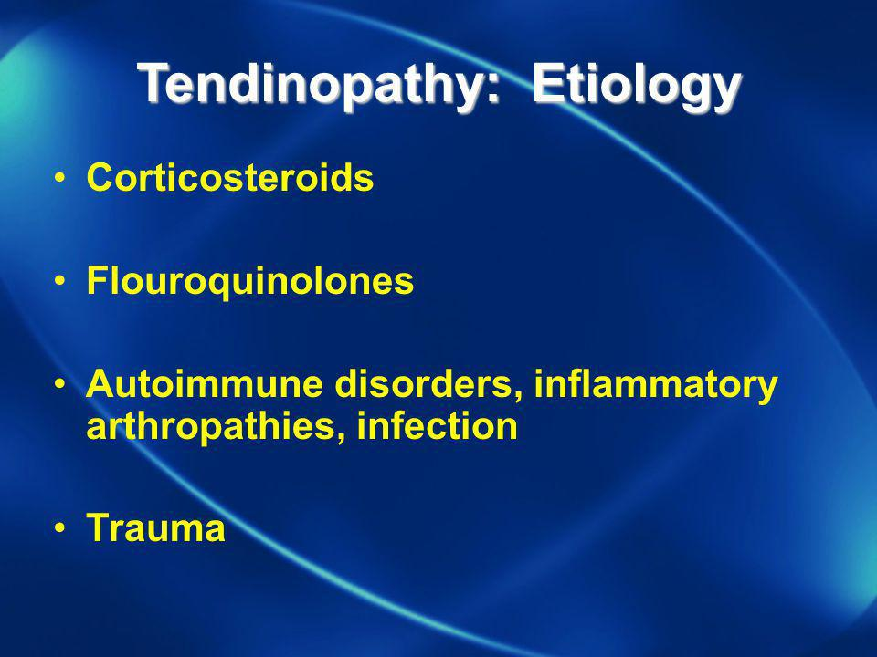 Tendinopathy: Etiology