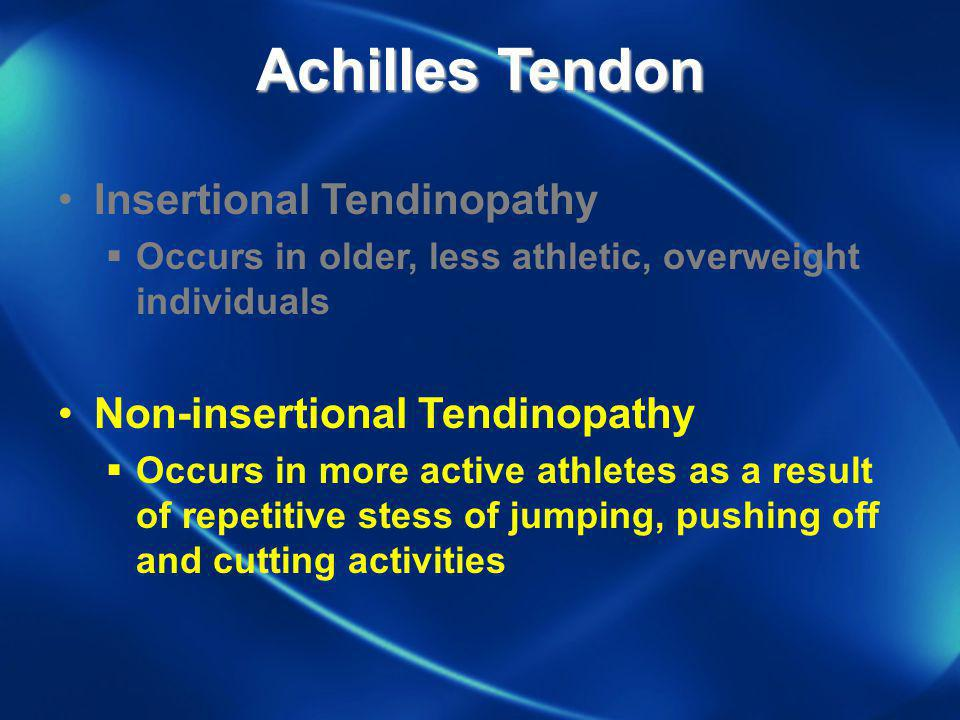 Achilles Tendon Insertional Tendinopathy Non-insertional Tendinopathy