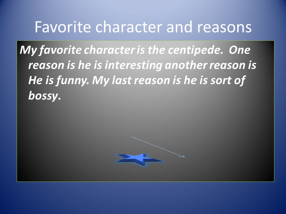 Favorite character and reasons