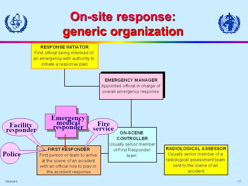 On-site response: generic organization