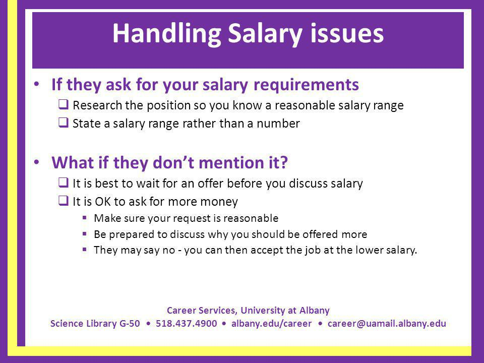 stating salary requirements
