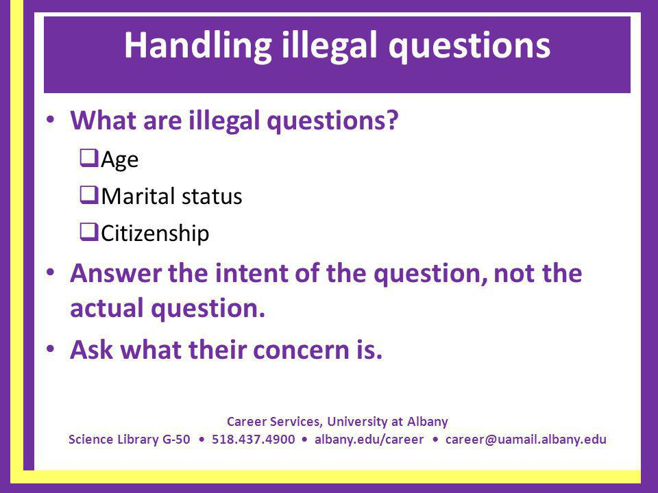Handling illegal questions